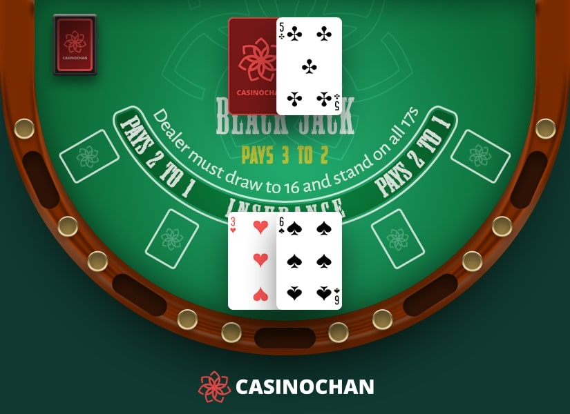 A hard nine with 3 and 6 is great for doubling down in Blackjack.
