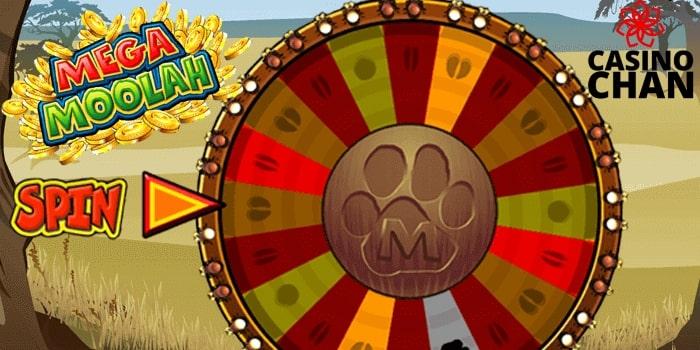 Screenshot of the Mega Moolah - the beast slot to learn to play slots and win.