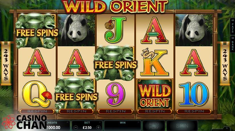 Putaran gratis di slot Wild orient di Casinochan