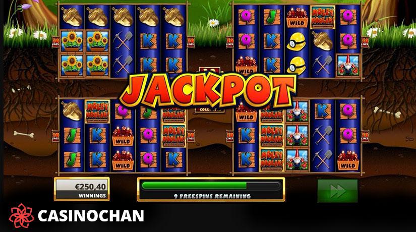 Putaran Bonus di Slot Moley Moolah di Casinochan